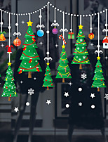 cheap -Christmas Tree Wall Stickers Decorative Wall Stickers, PVC Home Decoration Wall Decal Wall Decoration Glass Window Decoration / Removable