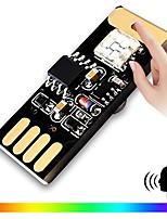 Недорогие -BRELONG® 1шт LED Night Light RGB USB С портом USB / Управление голосом / Украшение 5 V