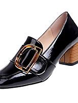 abordables -Femme Escarpins Polyuréthane Automne Chaussures à Talons Talon Bottier Bout carré Noir / Beige / Quotidien