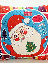 baratos -Cobertura de Almofada Natal / Férias Tecido Rectângular Novidades Decoração de Natal