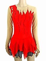 Недорогие -Платье для фигурного катания Жен. / Девочки Катание на коньках Платья Красный Спандекс Слабоэластичная Профессиональный стиль / Соревнование Одежда для фигурного катания Ручная работа Пайетки