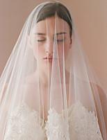 Недорогие -Один слой Старинный / Классический Свадебные вуали Фата до кончиков пальцев с Аппликации / Однотонные Кружева / Тюль