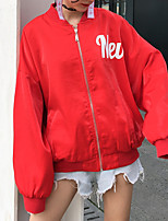 baratos -Mulheres Jaqueta Básico - Sólido / Pintura