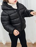 Недорогие -Дети (1-4 лет) Девочки Однотонный Длинный рукав На пуховой / хлопковой подкладке