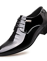 Недорогие -Муж. Официальная обувь Искусственная кожа Весна & осень Английский Туфли на шнуровке Черный / Стразы / Для вечеринки / ужина