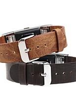 baratos -Pulseiras de Relógio para Fitbit Charge 2 Fitbit Pulseira de Couro Couro Legitimo Tira de Pulso