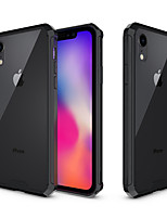 Недорогие -Кейс для Назначение Apple iPhone XR / iPhone XS Max Защита от удара / Полупрозрачный Кейс на заднюю панель Однотонный Твердый Акрил для iPhone XS / iPhone XR / iPhone XS Max