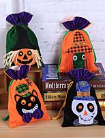 Недорогие -1pc Хэллоуин конфеты мешок подарочные пакеты тыква трюк лечить сумки мешки hallowmas подарок дети случайная случайная случайная