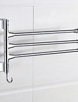 Недорогие -Держатель для полотенец Новый дизайн / Cool Modern Нержавеющая сталь / железо 1шт Полотенцесушитель 3 На стену