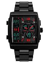 Недорогие -Муж. электронные часы Цифровой Cool Нержавеющая сталь Группа Аналого-цифровые На каждый день Черный - Черный Красный Синий