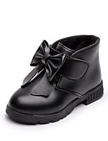 Недорогие -Девочки Обувь Полиуретан Наступила зима Детская праздничная обувь Ботинки для Дети Черный / Винный / Темно-красный