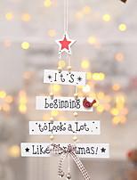 Недорогие -Рождественские украшения Праздник деревянный куб деревянный Рождественские украшения