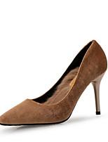 abordables -Femme Escarpins Matière synthétique Printemps été Minimalisme Chaussures à Talons Talon Aiguille Bout pointu Noir / Vert / Amande / Soirée & Evénement