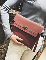 baratos -Mulheres Bolsas PU Bolsa de Mão Botões Vermelho / Rosa / Cinzento