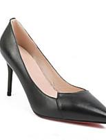 abordables -Femme Chaussures de confort Cuir Nappa Printemps Chaussures à Talons Talon Aiguille Blanc / Noir