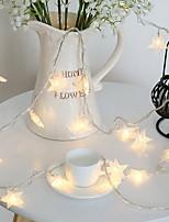 Недорогие -1m Гирлянды 10 светодиоды Белый Декоративная / обожаемый 220-240 V 1 комплект