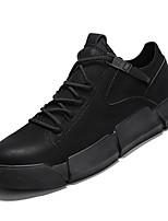 Недорогие -Муж. Комфортная обувь Полиуретан Осень На каждый день Кеды Нескользкий Черный / Серый / Черно-белый