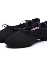 abordables -Femme Chaussures de Ballet Toile Plate / Basket Talon Plat Chaussures de danse Noir / Rouge / Rose