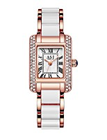 cheap -ASJ Women's Dress Watch Wrist Watch Japanese Quartz 30 m Water Resistant / Water Proof Casual Watch Cool Stainless Steel Band Analog Casual Fashion Silver / Rose Gold - Silver Rose Gold