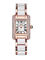 Недорогие -ASJ Жен. Нарядные часы Наручные часы Японский Кварцевый 30 m Защита от влаги Повседневные часы Cool Нержавеющая сталь Группа Аналоговый На каждый день Мода Серебристый металл / Розовое золото -