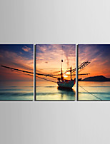 cheap -Print Rolled Canvas Prints / Stretched Canvas Prints - Landscape / Aquatic & Nautical Modern