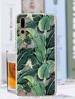 Недорогие -Кейс для Назначение Huawei P20 Pro / P20 lite Прозрачный / С узором Кейс на заднюю панель дерево Мягкий ТПУ для Huawei P20 / Huawei P20 Pro / Huawei P20 lite