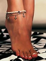 Недорогие -Плетение лодыжке браслет - Богемные, Этнический, Мода Серебряный Назначение Официальные Новый год Жен.