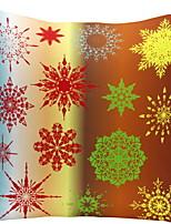Недорогие -Наволочка Новогодняя тематика Фланелет Квадратный Для вечеринок Рождественские украшения