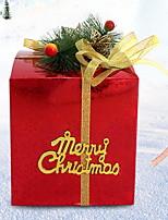 baratos -Caixas de Presente Férias Tecido Quadrada Novidades Decoração de Natal