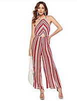 cheap -Women's Basic Jumpsuit - Striped / Rainbow