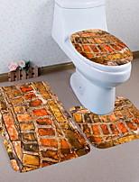 Недорогие -3 предмета Modern Коврики для ванны 100 г / м2 полиэфирный стреч-трикотаж Геометрический принт нерегулярный Ванная комната Новый дизайн