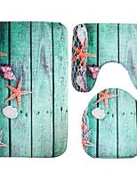 Недорогие -3 предмета Modern Коврики для ванны 100 г / м2 полиэфирный стреч-трикотаж Креатив / Животное нерегулярный Очаровательный