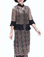 Недорогие -Жен. Блуза Платья Контрастных цветов