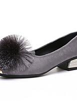 Недорогие -Жен. Балетки Полиуретан Осень Обувь на каблуках На низком каблуке Заостренный носок Черный / Серый / Хаки / Повседневные