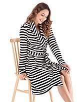 abordables -V Profond Body Pyjamas Femme Rayé
