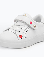 Недорогие -Девочки Обувь Искусственная кожа Весна & осень Удобная обувь Кеды На липучках для Дети Белый / Розовый