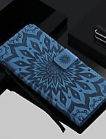 Недорогие -Кейс для Назначение SSamsung Galaxy Galaxy S10 / Galaxy S10 Plus Бумажник для карт / со стендом / Флип Чехол Цветы Твердый Кожа PU для S9 / S9 Plus / S8 Plus