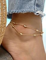 Недорогие -Многослойность лодыжке браслет - Художественный, Мода Золотой Назначение На выход Бикини Жен.