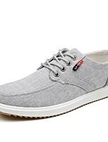 Недорогие -Муж. Комфортная обувь Полотно Осень На каждый день Кеды Дышащий Черный / Серый / Синий