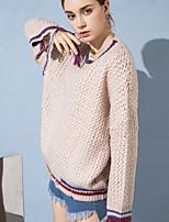 Недорогие -Жен. Активный Пуловер - Контрастных цветов, С кисточками