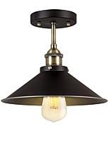 baratos -Diâmetro 26 cm industrial luz de teto semi flush metal do vintage 1-luz da lâmpada do teto sala de jantar cozinha luminária