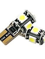 Недорогие -2pcs T10 Автомобиль Лампы 2.5 W SMD 5050 200 lm 5 Светодиодная лампа Внешние осветительные приборы Назначение