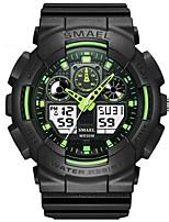 Недорогие -SMAEL Муж. Спортивные часы электронные часы Японский Цифровой 50 m Защита от влаги Календарь Хронометр Plastic Группа Аналоговый Мода Черный - Зеленый Синий