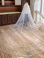 Недорогие -Два слоя Милый стиль Свадебные вуали Фата для венчания с Аппликации Тюль