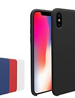baratos -Capinha Para Apple iPhone X / iPhone 8 Áspero Capa traseira Sólido Macia TPU para iPhone X / iPhone 8 Plus / iPhone 8