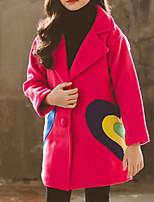 Недорогие -Дети Девочки С принтом Длинный рукав Куртка / пальто