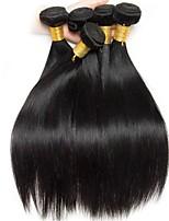 billiga -6 paket Indiskt hår / Vietnamesiskt hår Rak Äkta hår / Obehandlat Mänsligt hår Presenter / Human Hår vävar / Favör för Tebjudningar 8-28 tum Naurlig färg Hårförlängning av äkta hår Mjuk / Silkig