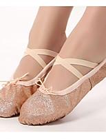 abordables -Femme Chaussures de Ballet Toile Basket Talon Plat Chaussures de danse Noir / Rose