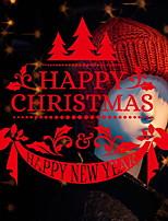 Недорогие -Оконная пленка и наклейки Украшение Рождество Геометрический принт ПВХ обожаемый / Cool