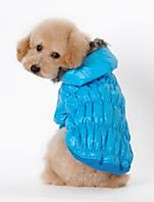 cheap -Dogs / Cats Coat Dog Clothes Solid Colored Red / Blue / Black Cotton Costume For Pets Unisex Casual / Daily / Warm Ups